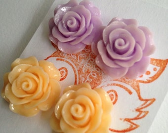 Flower Post Earring Set
