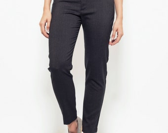 Straight leg pants, Women Trousers, Pencil, Skinny, brown pants, high waist pants, cotton pants, long pants, fitted cut,
