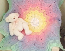 Rainbow Baby Blanket, Rainbow Lap Blanket, Rainbow Wheelchair Blanket