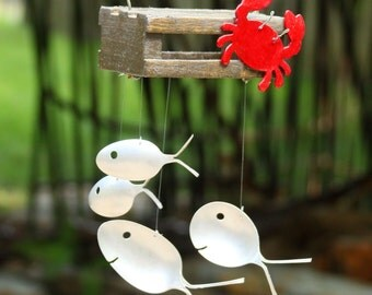 how to make spoon fish wind chimes