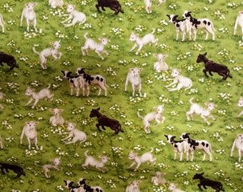 Springtime Lambs from Makower UK cotton fabric quilting kids dresses shirts