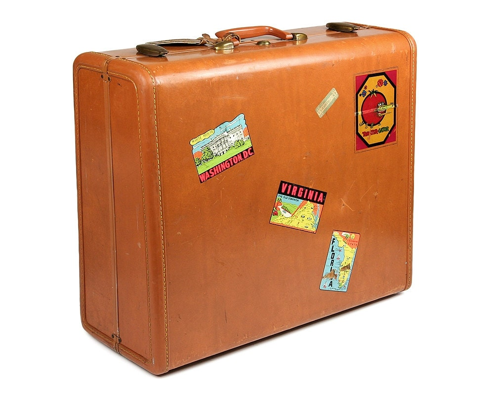 Samsonite suitcase with vintage travel stickers vintage - Vintage suitcase ...