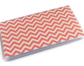 Checkbook Cover Pink Chevron