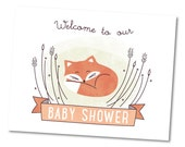 Woodland Welcome Sign, Baby Shower Party Décor // BABY FOX
