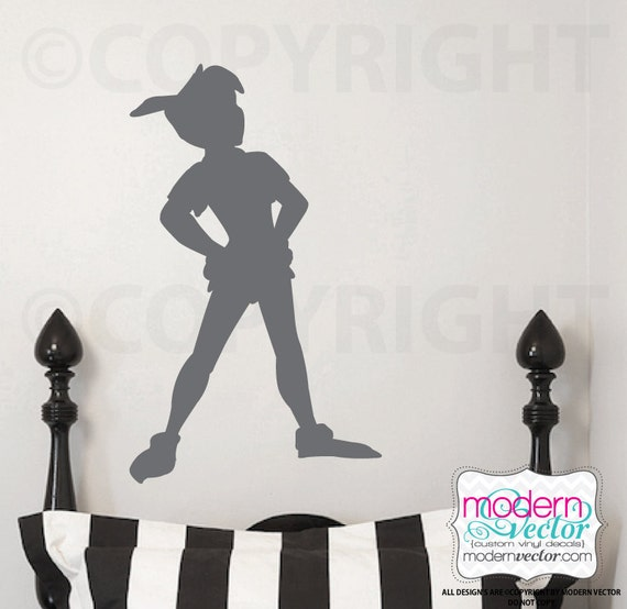 Pictures Of Peter Pan Silhouette Wall Decal Rock Cafe
