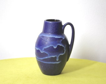 Vintage West German Pottery Vase Scheurich 414-16 Mid Century Modern