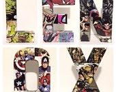 Custom Comic Name, Set of 5 Comic Letters, Medium 8 Inch