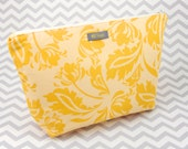 Makeup Bag or Cosmetic Case - Yellow
