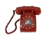 Red HOT Rotary Phone - Working Telephone