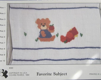 Smocking Plate - Favorite Subject #069 by Fancy Stitches (Chris Pearce) (book 5)