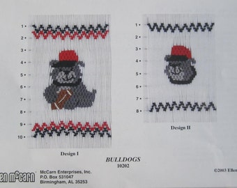 Smocking Plate - Bulldogs #10202 by Ellen McCarn (book 3)