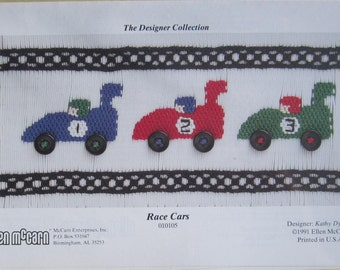 Smocking Plate - Race Cars #010105 - The Designer Collection by Ellen McCarn - Kathy Dykstra (book 3)