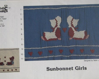 Smocking Plate - Sunbonnet Girls by Creative Keepsakes (book 3)
