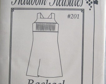 Pattern - Rachael #201 -Girls straight sun dress with smocked insert- Size 10, 12, 14, 16 - by Maja's Heirloom Treasures