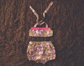 Cake Smash Outfit One Year Old Girl Bikini Cake Smash Set Retro Paisley