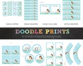 MERMAID Party Birthday Package - Party Decor - Printable Package - Cordinating Little Mermaid, Ocean, Beach Under the Sea - Instant Download