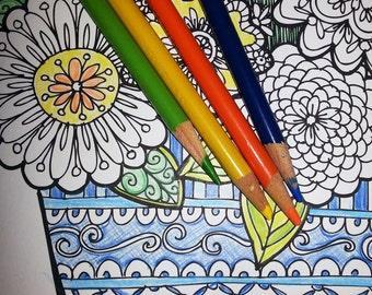 KPM Doodles Coloring page Secret Garden 3