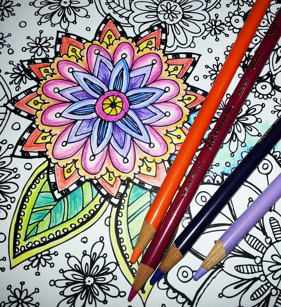 The secret garden coloring book download - Kpm Doodles Coloring Page Secret Garden 2
