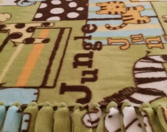 Jungle Animals Fleece Blanket