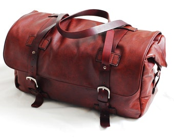Leather DSLR Bag, Weekender Bag, Leather Briefcase, Duffle bag, Laptop bag