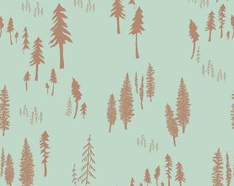 Woodland Nursery Fabric, Timberland Dew, HELLO BEAR, Bonnie Christine, Art Gallery Fabric By the Yard, Woodland Baby Quilt Cotton Fabric