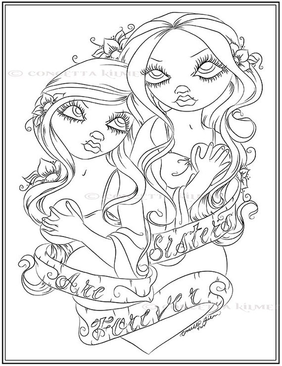 sister coloring pages for kids - photo #38