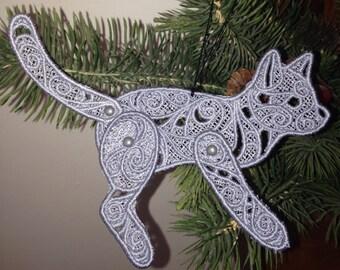 Lace Cat Ornament