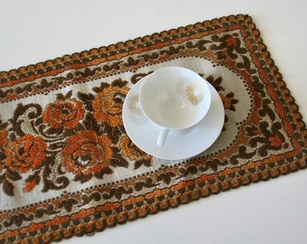 Vintage Brocade Tapestry Dresser Doily,Dress Runner,Bureau Doily
