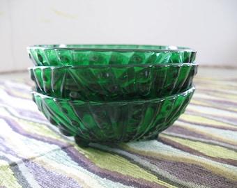 Anchor Hocking Burple Bubble Green Bowl Set