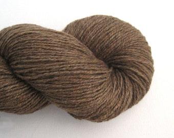 Fingering Silk Cashmere Blend Recycled Yarn, Portobello Brown, Lot 140315