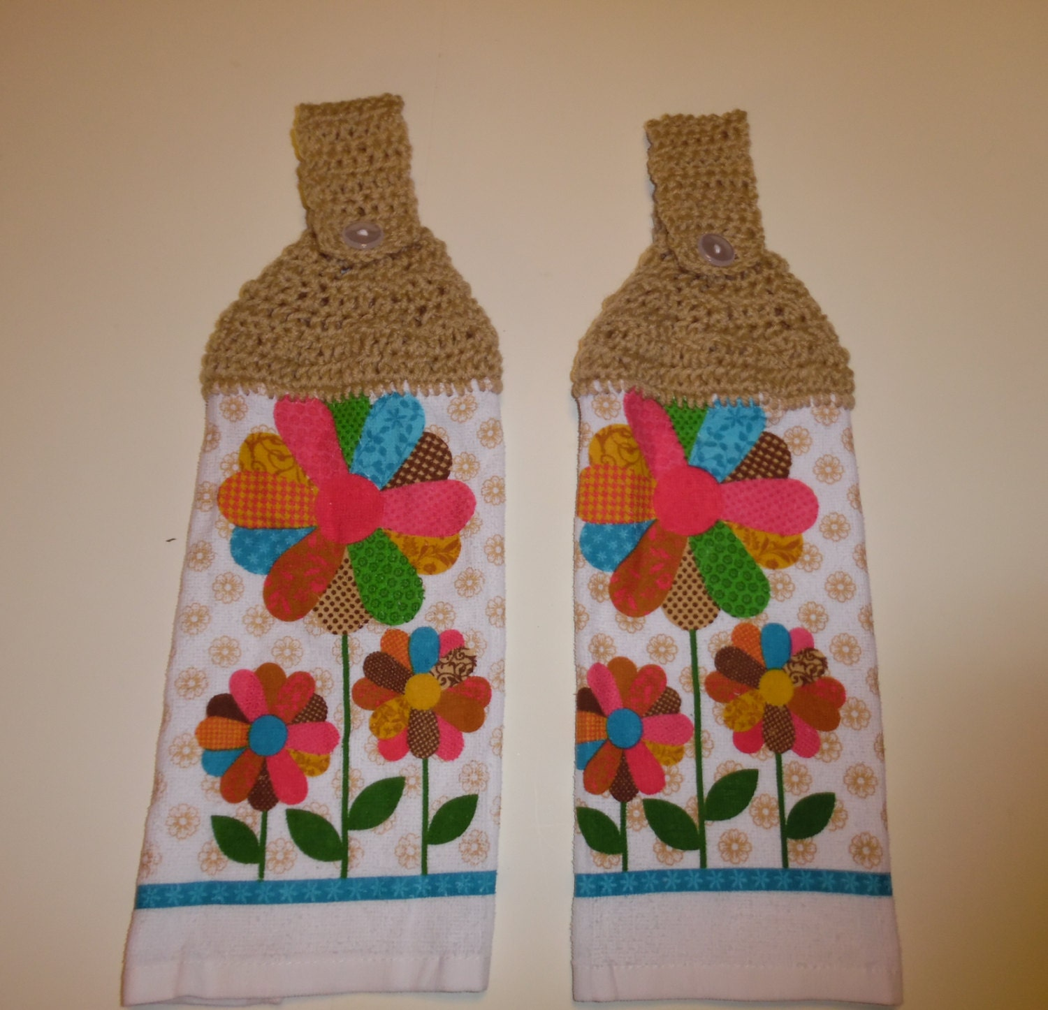 Crochet Summer Towel Hand Towel Kitchen Towel Spring Towel