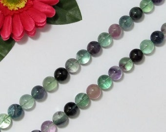 Natural Fluorite 14mm round Loose Beads