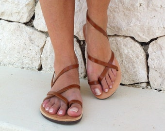 women sandals, strap sandal, brown sandals, leather sandals