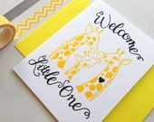 New Baby Card Letterpress Baby Card