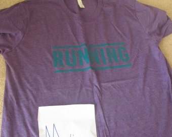 SALE - Running tee for men's - running tanks for men's - man running shirt