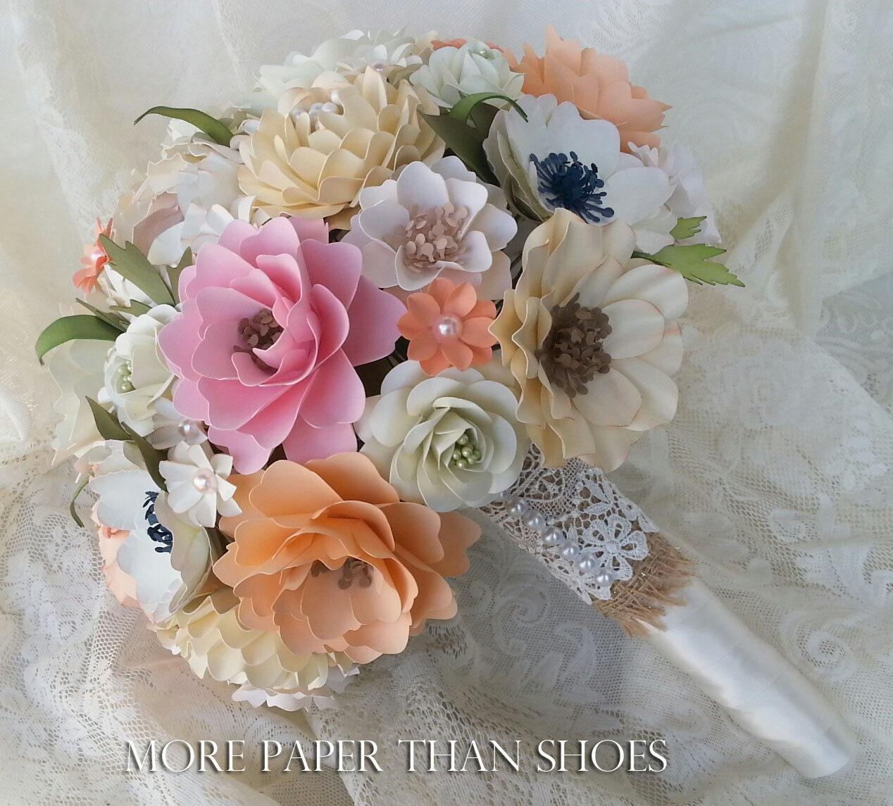 Wedding Bouquet Quotes: Paper Bouquet Paper Flower Bouquet Wedding Bouquet Toss