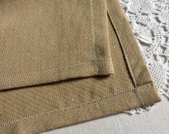 Hand made natural linen tea towel