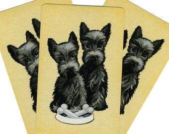 LEFTOVERS (3) Vintage Single Swap Playing Cards Paper Ephemera Scrapbook