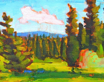 McCall Idaho- Original Oil Landscape Painting