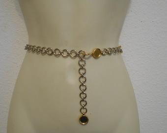 Vintage gold Belt Metal Chain Belt Cinch belt