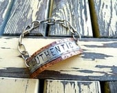 Authentic, True to Self, Be Yourself, Cold Connection, Bracelet, OOAK