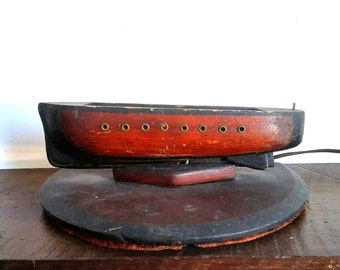 Antique Wooden Boat Light Fixture