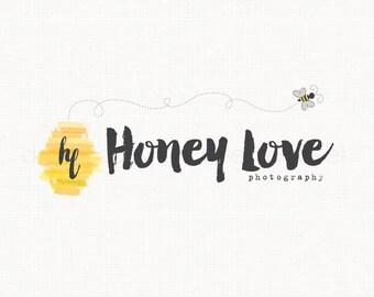 Bee Logo Design Photography Logo Applique Shop Logo Bee Hive Logo Premade Logo Design Boutique Logo Design Watercolor Logo Bespoke Logo