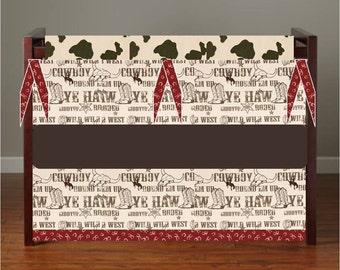 Western crib bedding, Cowboy crib bedding, cow print bumper, bandana