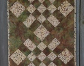 Quilted Wall Hanging - Checks & Balances