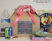 Bachelorette Survival Kit / Bachelorette party favor / Bridal shower favor / Hangover kit / Bachelorette Weekend box - Set of 10