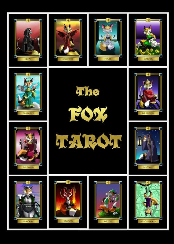 The Fox Tarot Card Deck 78 Card Deck With Box And Booklet