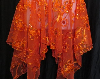 Adult Orange Sequin Fairy Skirt