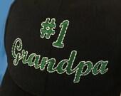 Number 1 Grandpa Ball Cap Hat