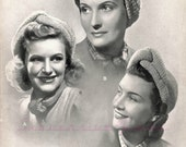 Three Knitted Turbans from WWII, Patons and Baldwins No. 3814, c. 1940s - vintage knitting pattern PDF (476)